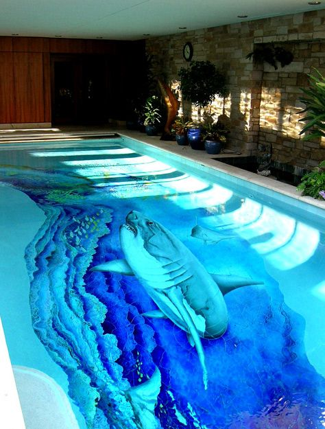 25 best images about cool painted pools on pinterest for Cool swimming pool designs
