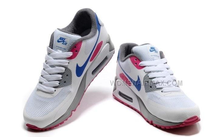 http://www.womenairmax.com/air-max-90-hyperfuse-prm-womens-shoes-grey-white-blue.html Only$89.00 AIR MAX 90 HYPERFUSE PRM WOMENS #SHOES GREY WHITE BLUE #Free #Shipping!