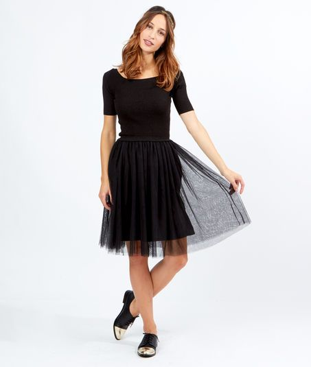 Etam robe noire et blanc