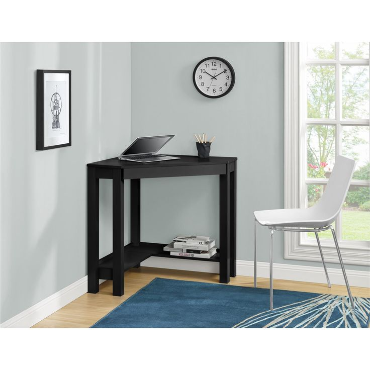 Dorel Home Furnishings Parsons Black Corner Desk