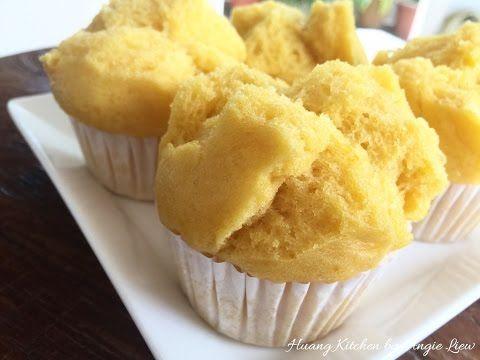 Steamed Chinese Pumpkin Muffins Recipe (Pumpkin Huat Kueh / Fa Gao) 蒸金瓜发糕   Huang Kitchen - YouTube