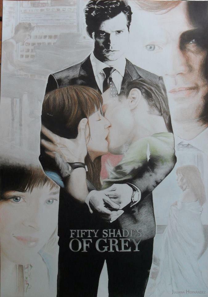 Hi everyone... This's my Fifty Shades Of Grey Drawing! What you think? I hope you like   Hola a todos... Este es mi dibujo de Cincuenta Sombras de Grey!! ¿Qué piensan? Espero que les guste