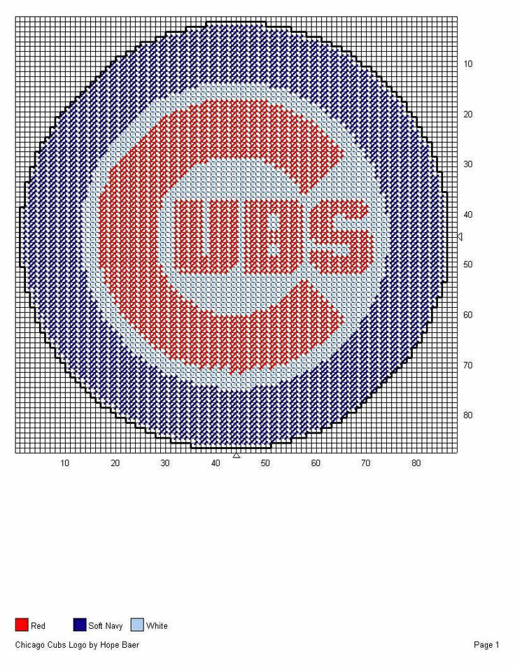 38 best chicago cubs and bears plastic canvas images on pinterest cubbies logo fandeluxe Gallery