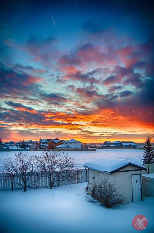 edmonton, alberta, canada sunrise