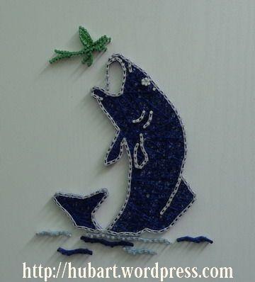 string art jumping fish