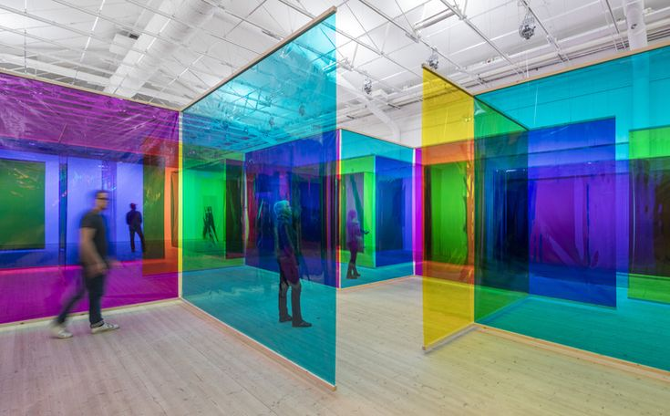 Your body of work, colour filter foil / Moderna Museet, Stockholm 2015 / Photo: Anders Sune Berg ©Olafur Eliasson