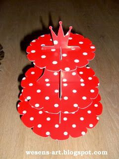 Plantilla para hacer Stands para Cupcakes.