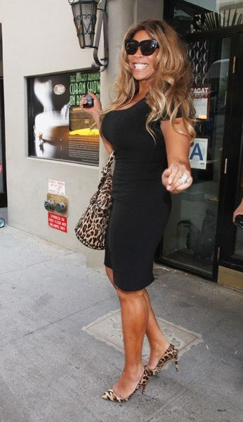 Wendy Williams in New York. I know Wendy's big and has a big personality. But damn, the shoes and bag are on point.