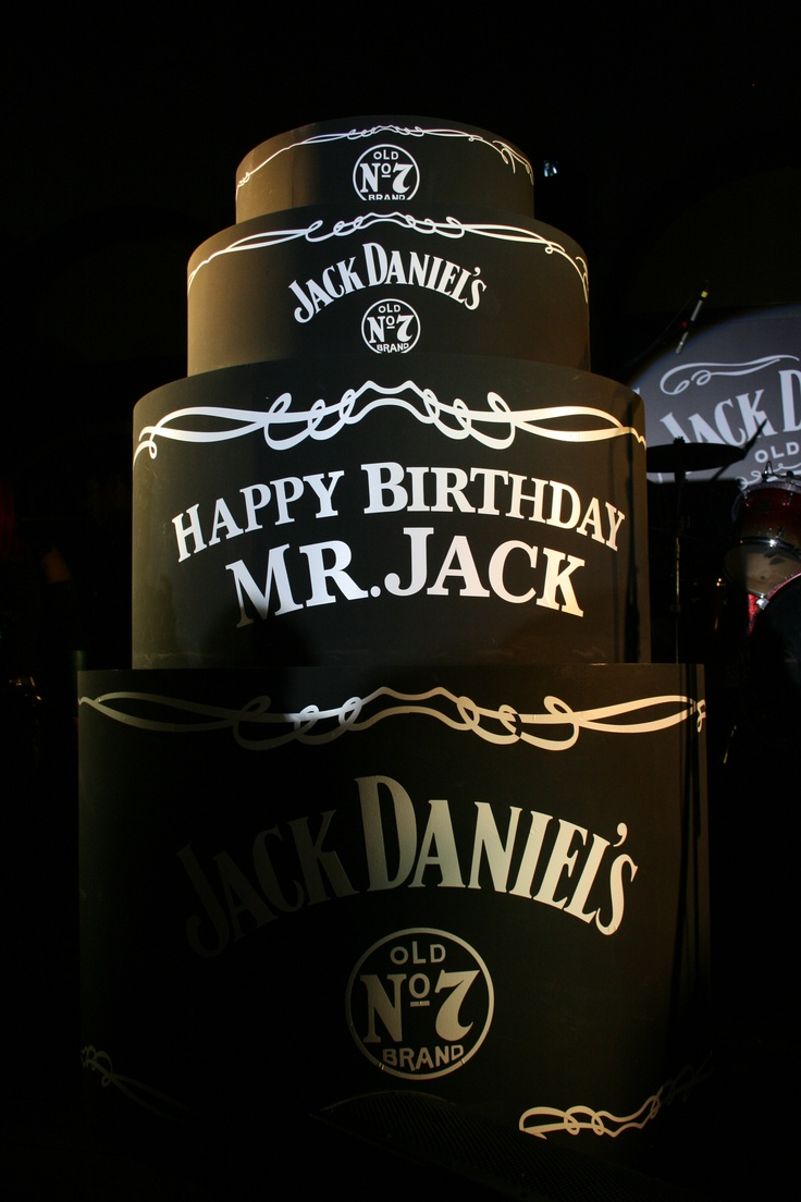 Happy Birthday Jack Daniels Cake