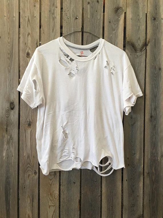 destroyed t shirt damen