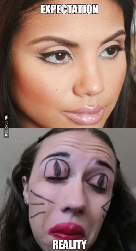 Tried cat eye makeup tutorial