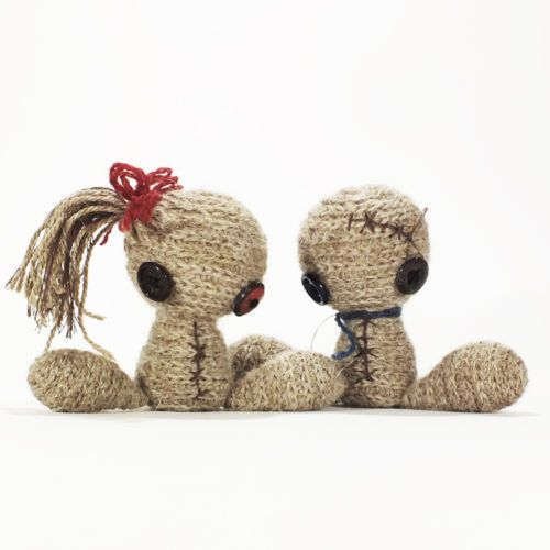 Mr Mrs Buttonie OOAK Crochet Dolls by Dropici | eBay