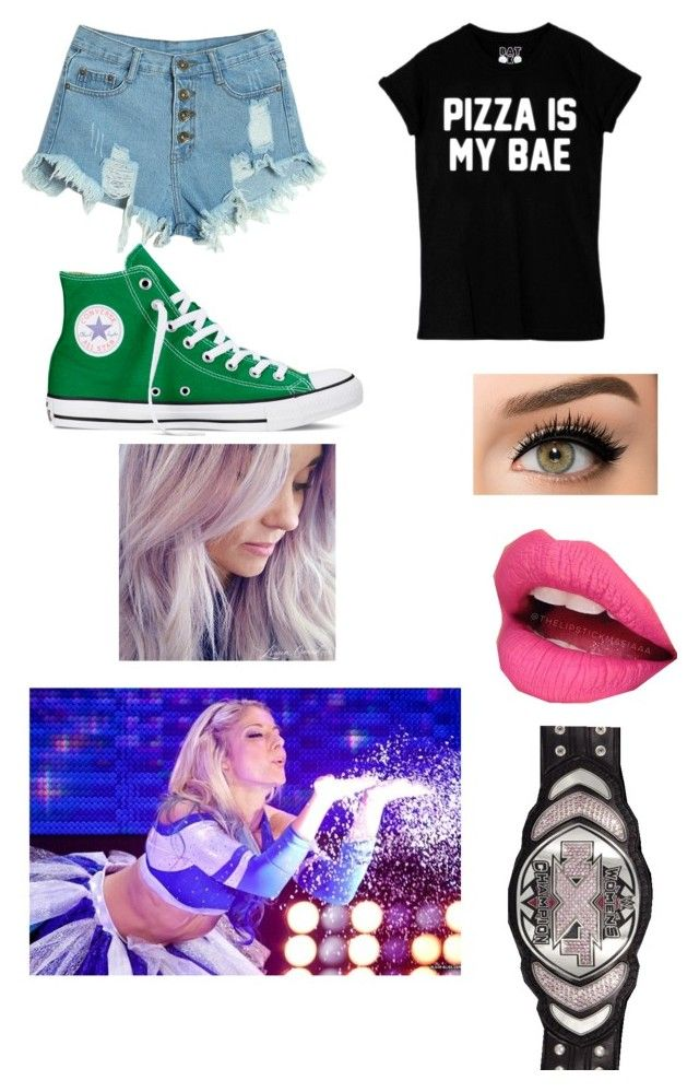 """WWE NXT Women's Championship Match against Alexa Bliss"" by smreed2020 ❤ liked on Polyvore featuring WithChic, Converse and Fiebiger"