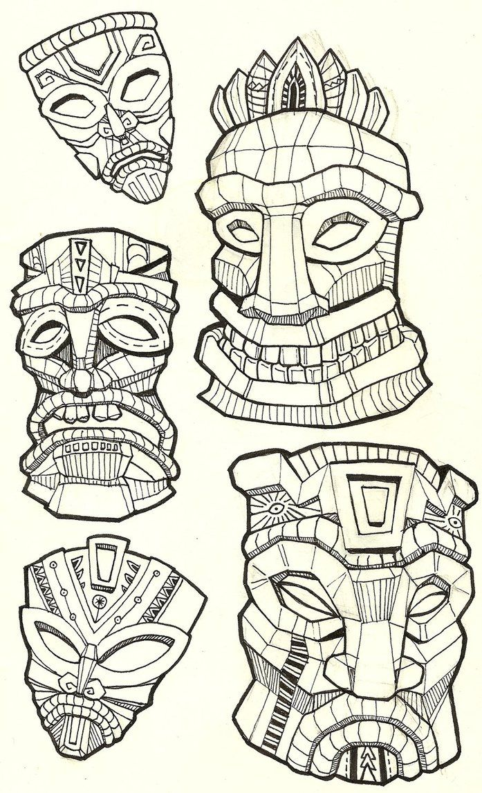 Tiki_Masks_by_NajMeTender.jpg (697×1147)