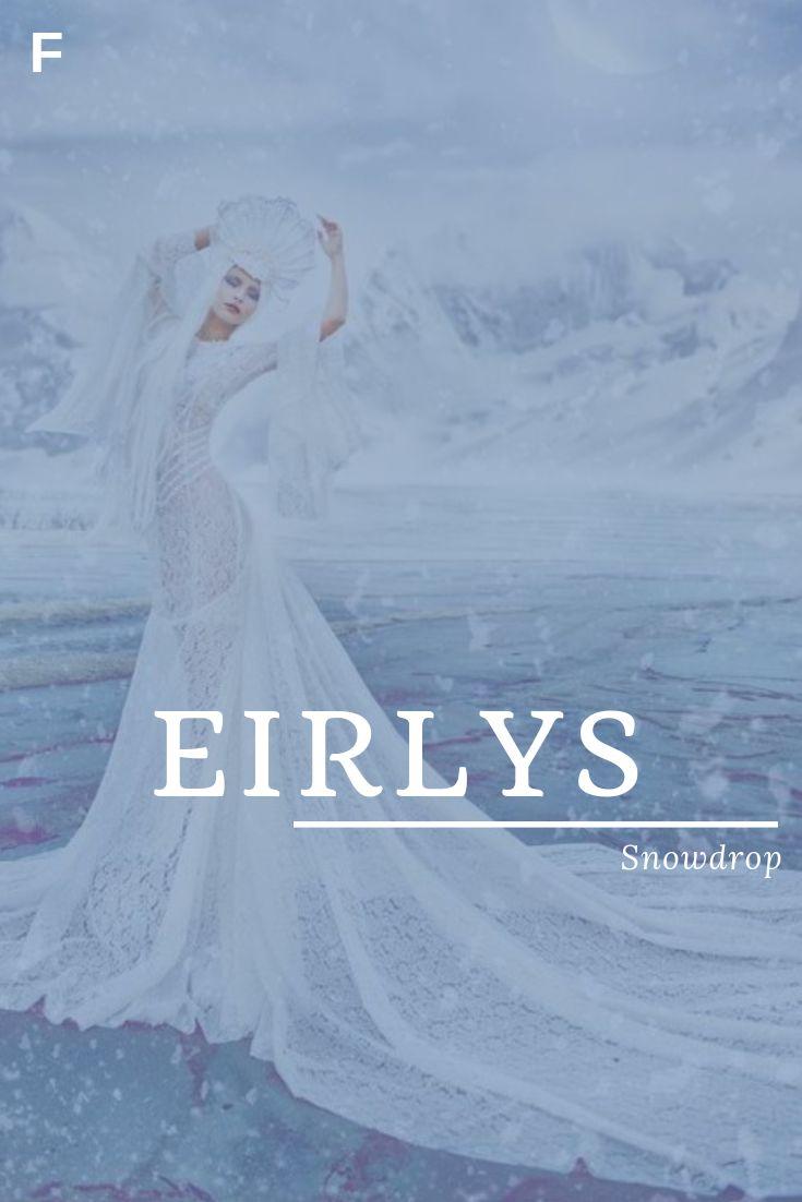 Eirlys, wat betekent Sneeuwvlok, Welshe namen, E-meisjesnamen, E-babynamen, vrouwelijke …