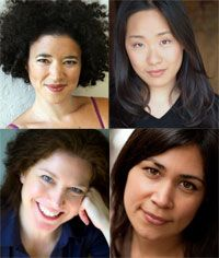 Tickets are going fast for our special production of Shakespeare's Twelfth Night, taking place 2/20-3/2 at Intersection for the Arts. Michelle Hensley directs an all-female cast on a journey through love, laughter, and lunacy. Pictured here, clockwise from top left, are Rami Margron (Orsino/Maria), Cindy Im (Viola/Sebastian), Maria Candelaria (Olivia), and Nancy Carlin (Malvolio/Valentine). Learn about the rest of the cast and creative company and get tickets at http://www.calshakes.org.: All Female Cast, Twelfth Night, Candelaria Olivia, Maria Candelaria, Hensley Direction, Michelle Hensley, 2014 Seasons, Creative Company, Shakespeare Twelfth