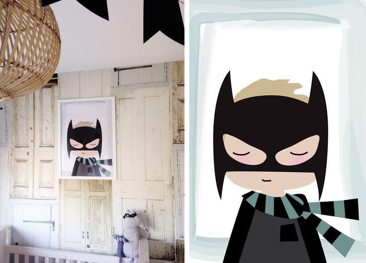 Wil je ook een poster van jouw kleine superheld of princes. mail naar info@leonieverver.nl www.leonieverver.nl #poster #kids #illustratie #persoonlijk #batman #minibatman #kinderkamer