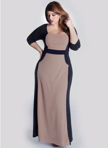 Talula Plus Size Gown in Mocha #plussize #plus #size #plussize #plus_size #curvy #fashion #clothes Shop www.curvaliciousclothes.com TAKE 15% OFF EVERYTHING! Use code: TAKE15 at checkout