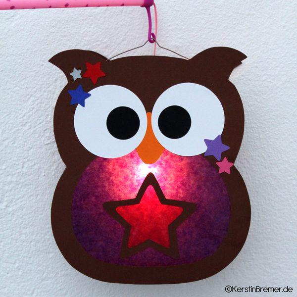 Eulen Laterne Bastelanleitung mit Bastelvorlage ♥ von kerstinbremer.de. So cute! Owl lantern ♥ #diy #basteln #eulenliebe – Dominique Wondra