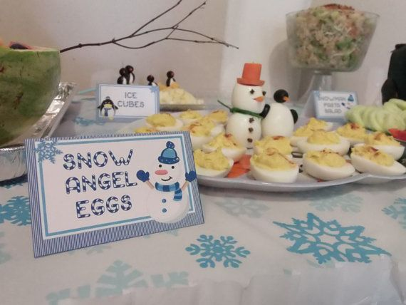 CUSTOMIZED  Winter ONEderland Food Labels by PartyMyWay Winter Wonderland First Birthday Party Theme