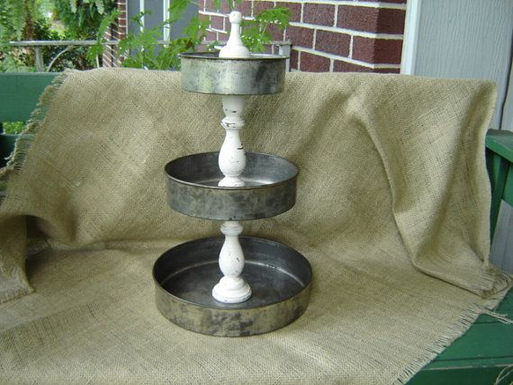 Industrial Stacking Three Tiered Cake Pan Stand Holder by magark, $34.95