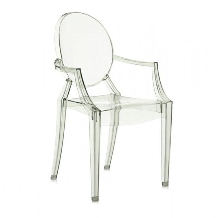 Plastová stolička Kartell Louis Ghost, svetlozelená
