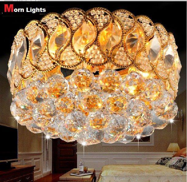 Спальня хрустальные Светильники Потолочные лампы Современный стиль потолочные светильники Лучших Кристалл K9 Luxry Потолочные Светильники