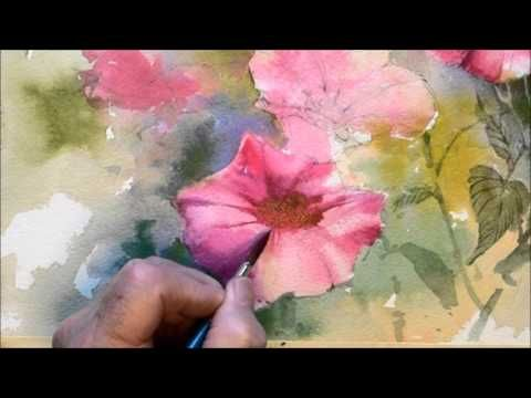 How to paint flowers - YouTube