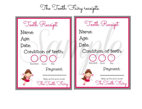 The 25+ best Tooth fairy note ideas on Pinterest Tooth fairy - printable receipt free