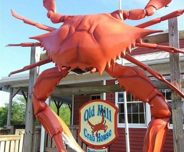 Old Mill Crab House in Delmar, Delaware, is one of the best seafood restaurants in the state!