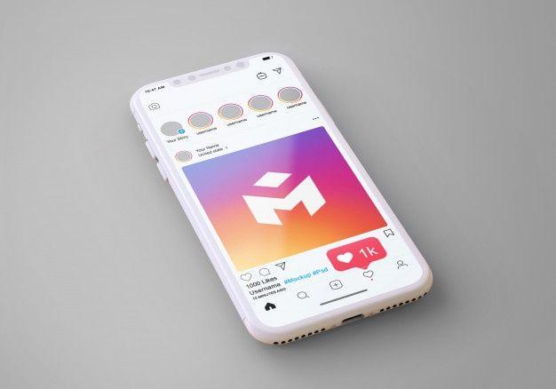 Social Media Instagram On Mobile Phone Mockup Instagram Mobile Phone Mockup Social Media Instagram