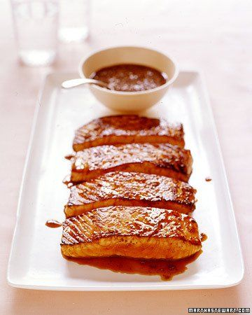 Salmon with Honey-Coriander Glaze, Recipe from Martha Stewart Living, September 2004