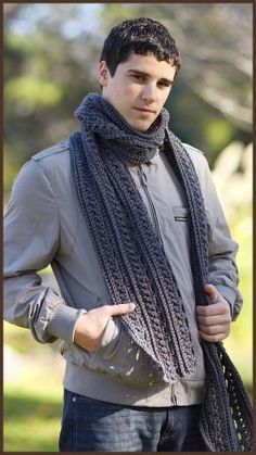 Crochet Gentleman's Scarf Free Pattern & Video