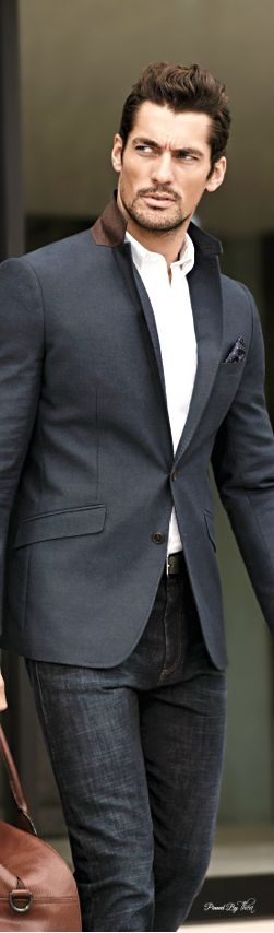 Suit Jacket & Jeans | Men's Fashion | Menswear | Business Casual | Moda Masculina | Shop at designerclothingfans.com