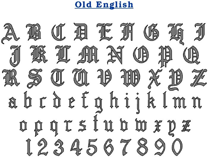 All Old English Letters