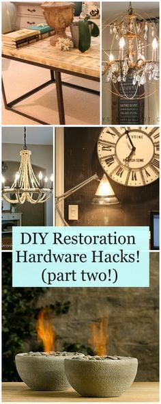 DIY Restoration Hardware Hacks! (part two!) • Ideas and tutorials for making Restoration Hardware Knock Offs for a lot less!