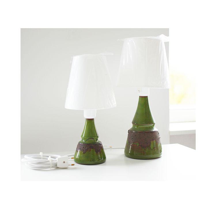Lamper : 2 stk. grønne vintage Bartholdy lamper (602 og 603)
