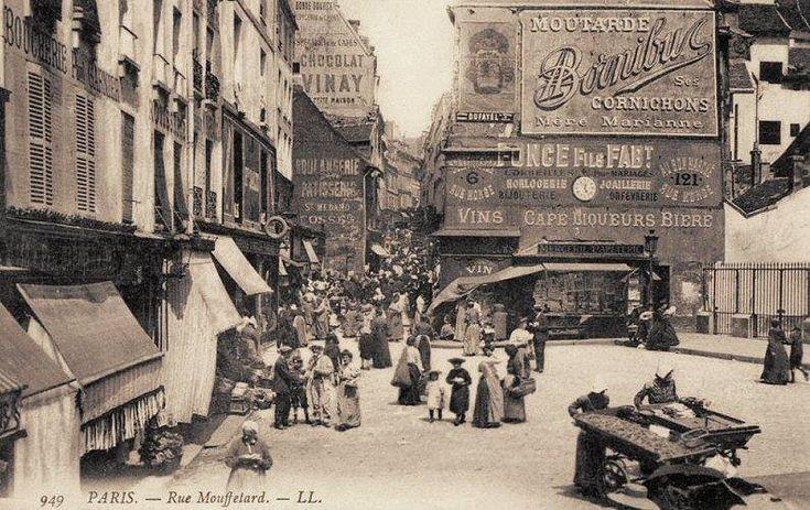 La rue Mouffetard en 1900