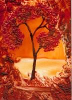 ATCsforALL - Autumn - painted by me.