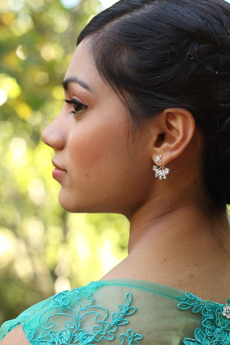 Matric dance make-up and jewellery