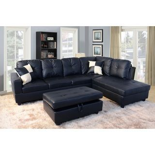 Shop For Urbania Black Right Hand Facing Sectional. Get Free Delivery Atu2026  Modern SectionalLiving Room FurnitureFree ... Part 76