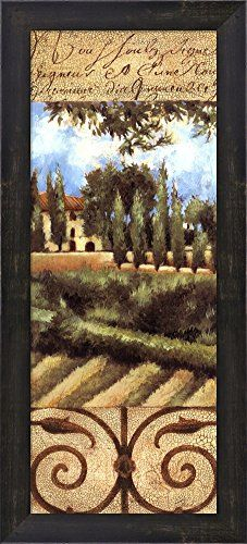 Amazon.com: Villa In Tuscany by Liz Jardine Framed Art Print Wall Picture, Espresso Brown Frame with Hanging Cleat, 10 x 22 inches: Prints: Posters & Prints