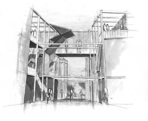 architecture sketches. an adaptive grid for the new savannah civic center by nicholas debruyne via behance architecture sketches