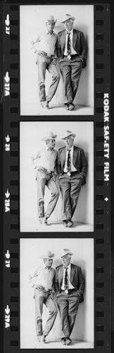 "Terry O'Neill | Paul Newman and Lee Marvin Contact Strip Actors Paul Newman (1925 - 2008) and Lee Marvin (1924 - 1987) wearing cowboy hats in a publicity still for Stuart Rosenberg's 1972 comedy western 'Pocket Money', Tuscon, Arizona.  Limited Edition Silver Gelatin Signed and Numbered  12"" x 16"" / 16"" x 20""  20"" x 24"" / 20"" x 30""  24"" x 34"" / 30"" x 40""  40"" x 60"" / 48"" x 72""  For questions or prices please contact us at info@igifa.com"