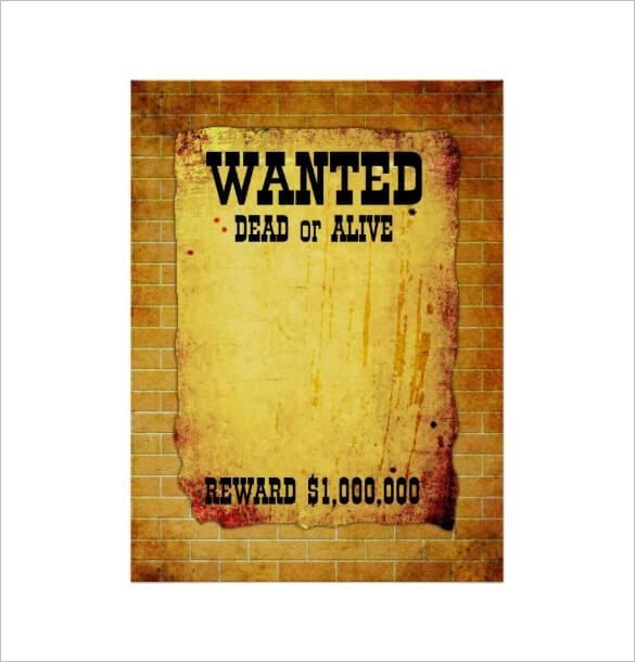 7 Free Wanted Poster Templates Poster Template Free Templates Printable Free Word Template