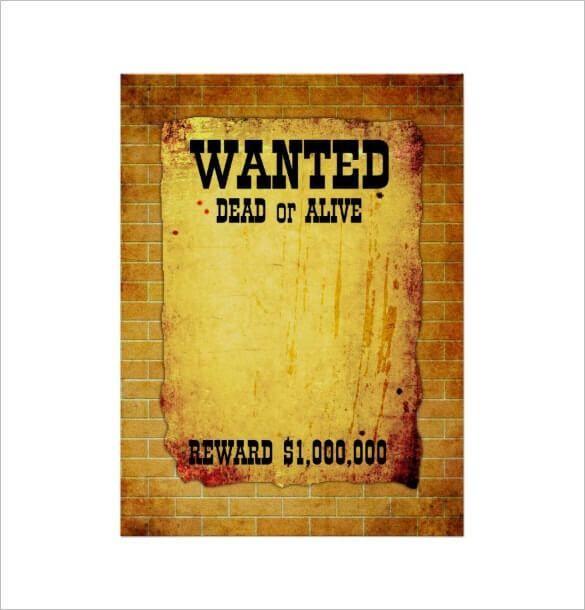 16 Free Premium Beautiful Design Wanted Poster Templates Pdf
