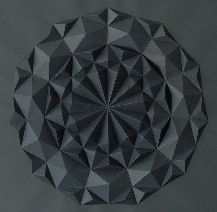 Eloroesunmetal   Paper art triangulos