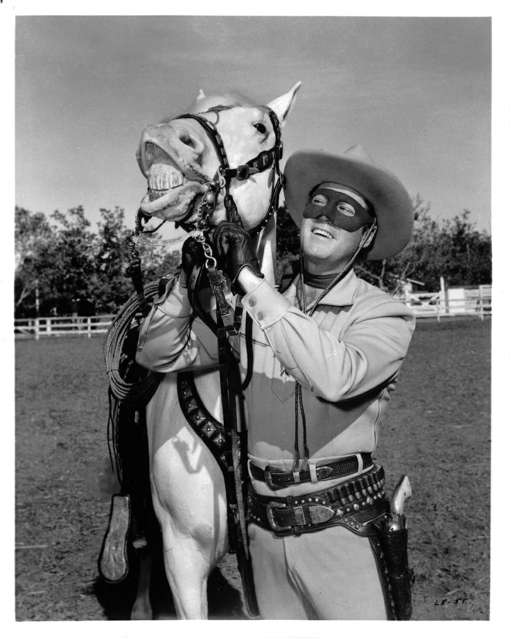 Clayton Moore (Lone Ranger) and Silver
