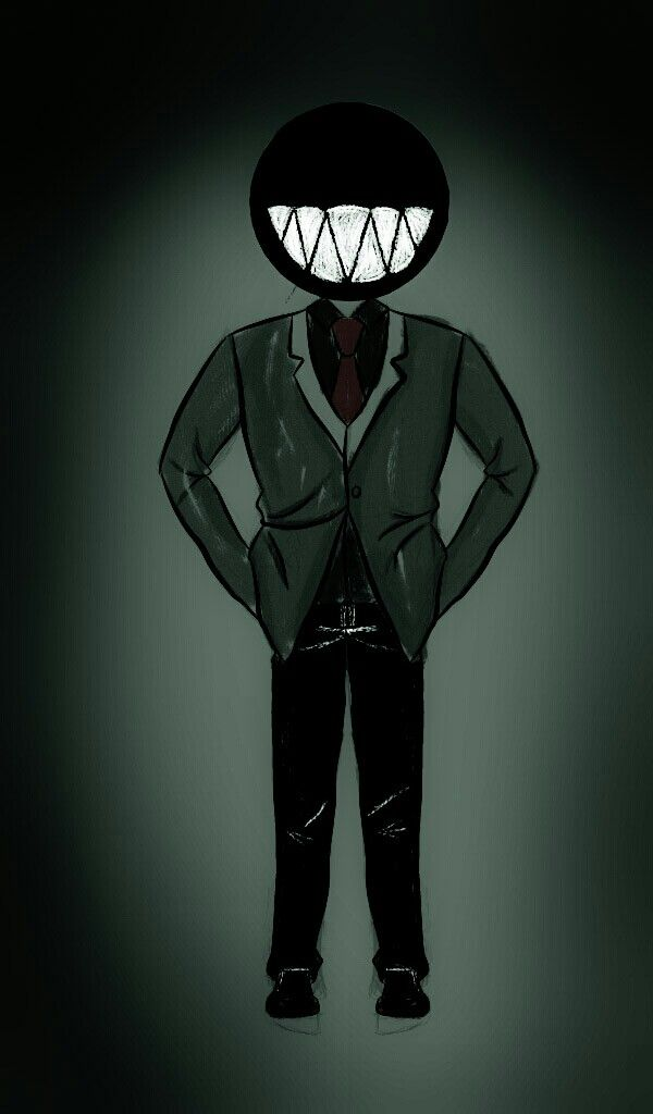 "He's much creepier in my dream  Meet ""smiley"""