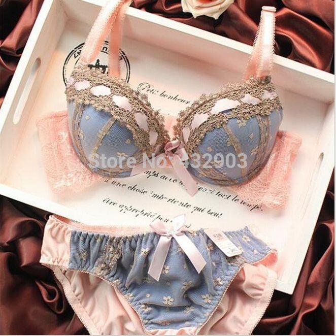 2015 sexy lingerie, bra sets breve, três fileira de Renda Bordado lingerie, mulheres sexy conjunto de sutiã, frança marca Intimates, Grande Copo BC em Sutiãs de Moda e Acessórios no AliExpress.com | Alibaba Group